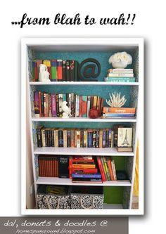 a lovely bookshelf decor!