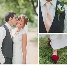 These gorgeous photos from Taylor Lord Photography feature an oh-so-sweet couple and their romantic barn wedding... http://www.allurebridals.com/blog/posts/julia--jarretts-rustic-chic-wedding