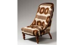 Reupholstered vintage chair from Madeline Weinrib.