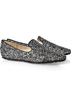 Jimmy Choo glitter loafers $495.00