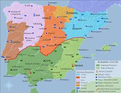 the reconquista- the campaign to drive out the Muslims from Spain is know as the Reconquista Spain History, World History, Art History, Historical Maps, Historical Pictures, Vintage Maps, Antique Maps, Plans, Middle Ages
