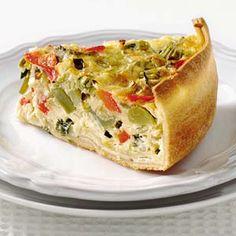 Roomkaastaart met groenten en tijm ( zonder bladerdeeg )