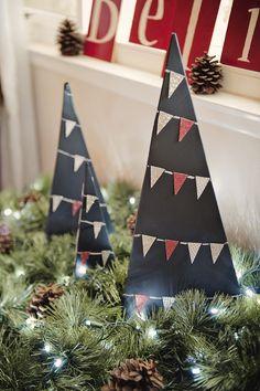 Chalkboard Christmas Trees Tutorial | Fab You Bliss