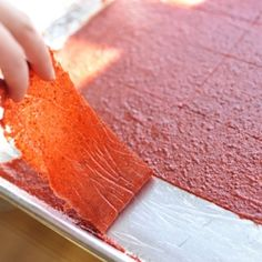 Homemade fruit leather is easy to make from surplus fruit!
