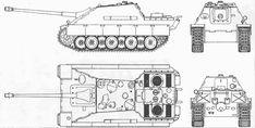 Jagdpanther Blueprint - Download free blueprint for 3D modeling