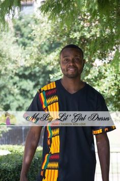 African Print Ankara - Men's Multi Color T-Shirt Design   Mother daughter dresses. mommy and me, mother and daughter dress