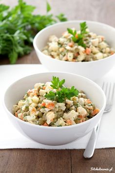 Light version of traditional vegetable salad - perfect for Easter.