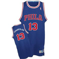 Philadelphia 76ers Wilt Chamberlain Men s Authentic No. Throwback Jersey  (Blue Red) Wilt fcccdbea2