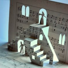 Staircases work so well in pop-ups, and the concept of sheet music would be transferable to lots of designs