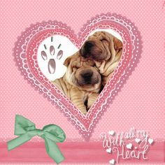Pagina scrapbook hecho con CraftArtist, día de san Valentín