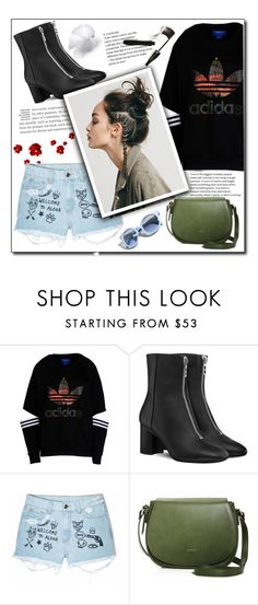 """""""🌹live simply😍💚"""" by aumnea ❤ liked on Polyvore featuring adidas Originals, Aloha From Deer, Pinko, Angela Roi and Lancôme"""