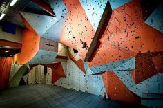 Stone Summit- Largest Indoor Rock Climbing Gym in the Nation. My favorite workout :)