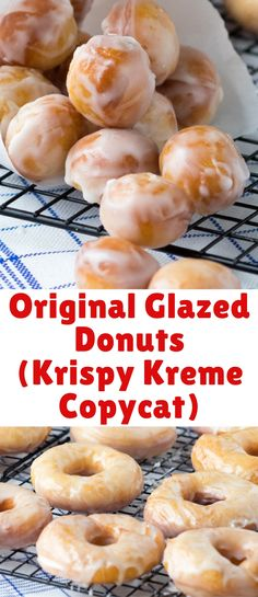 These original glazed donuts are light and chewy and a good way to get anyone out of bed in the morning. Who can resist a Krispy Kreme recipe copycat?