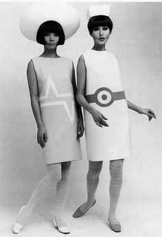 Graphic mini-dresses