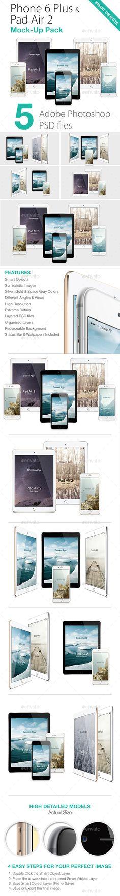 Phone 6 & Pad Air 2 Mock-Ups Pack