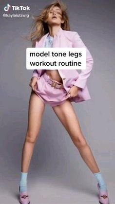 Fitness Workouts, Gym Workout Tips, Fitness Workout For Women, Butt Workout, Workout Videos, Body Fitness, Inner Leg Workouts, Slim Waist Workout, Model Workout