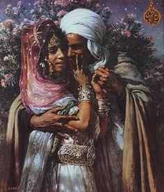 Étienne Dinet — Esclave d'amour et Lumière des yeux, 1895
