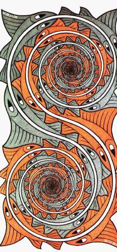 Escher swirl fish | Escher – O gênio da perspectiva » swirlfish