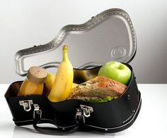 Every budding musician needs to take a break from rocking out, so what better what to enjoy your food than from this guitar case lunch box! This stylish and spacious case can be customized to your liking with some awesome stickers which are included.