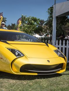 Visit The MACHINE Shop Café... ❤ The Best of Lamborghini... ❤ (Yellow Lamborghini 5-95 Zagato)