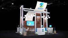 Geosoft 20' x 20' custom booth