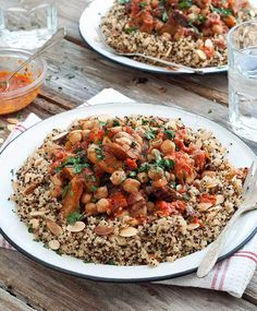 Chickpea Tagine with Quinoa and Harissa