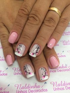 Super cute nails, manicures, nail designs, and nail art Manicure Nail Designs, Nail Manicure, Toe Nails, Nail Art Designs, Manicure Ideas, Super Cute Nails, Great Nails, Fabulous Nails, Pink Nail Art