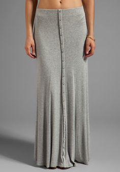 Heather Button Maxi Skirt on shopstyle.com