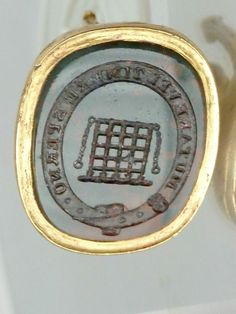 VICTORIAN INTAGLIO SEAL FOB BEAUFORT FAMILY CREST I SPURN TO CHANGE OR TO FEAR