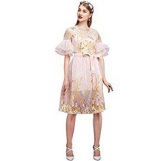 YIGELILA Romentic Puff Sleeve Embroidered Pink Dresses fo... http://www.amazon.com/dp/B01DSVXER8/ref=cm_sw_r_pi_dp_RoSjxb0ZD54J8