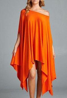 Gender: Women Waistline: Natural Fabric Type: Broadcloth Dresses Length: Above Knee, Mini Silhouette: Asymmetrical Neckline: Slash neck Sleeve Length: Short Pattern Type: Solid Sleeve Style: Batwing S