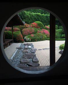 #岡山 2日目。 岡山駅から電車で一時間、高梁へ。 #頼久寺 の #庭園 素敵でした…  #okayama #travel