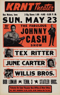 The Fabulous Johnny Cash Show Poster #typehunter