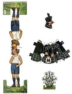 Vintage Kids Printable - Scottish Girl Paper Doll - The Graphics Fairy