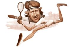 #caricature of #Swedish #tennis #legend player #Bjorn #Borg  By cdur carloman Posted on https://www.behance.net/gallery/4344353/caricatures