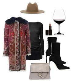 """""""Spicy and rollin the dicey"""" by astrro on Polyvore featuring Études, Haider Ackermann, Rick Owens, Tory Burch, Sergio Rossi, Laura Mercier and Riedel"""