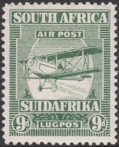 Výsledek obrázku pro Aviation on stamps 63 pinov Union Of South Africa, Craft Station, Rare Stamps, Airplane Art, Vintage Airplanes, Vintage Travel Posters, Stamp Collecting, Postage Stamps, Aviation
