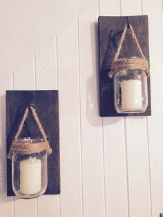 Pots massons et style rustique Style Rustique, Candle Sconces, Pots, Wall Lights, Candles, Homemade, Lighting, Home Decor, Appliques