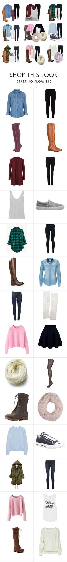 """""""Potential Audition Outfits"""" by fan-girl-fashions on Polyvore featuring Topshop, Stance, Journee Collection, M&S Collection, Paige Denim, The Row, Vans, Madewell, NIKE and Steve Madden"""