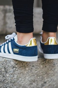 Gold on navy