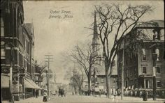 Beverly MA Cabon Street Scene c1910 Postcard