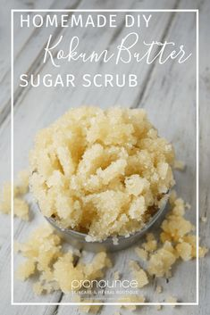 DIY KOKUM BUTTER SUGAR SCRUB