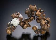 Native Copper and Analcime - Cliff Mine, Phoenix, Keweenaw County, Michigan, USA Size: 4.9 cm