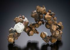 Native Copper and Analcime - Cliff Mine, Phoenix, Keweenaw County, Michigan, USA Size: 4.9 cm