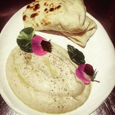 Cannellini bean and cumin with house rolled flat bread tonight at #nomadsydney! photo courtesy of @jacqui_chall