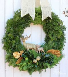 Learn to make your own traditional Christmas wreath with these easy to follow step by step photos. Natural Christmas wreath made easy.