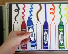 Busy Book and/or Folder: Matching Colors Crayons