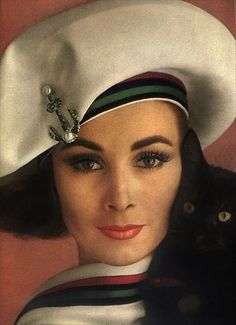 Over-sized beret.  Time for a comeback for this 50 year old style?  Model Wilhelmina.  Photo by Karen Radkai, 1962.