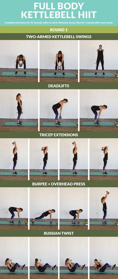 Full Body Kettlebell HIIT - Strengthen your entire body with this 20 minute cardio and strength kettlebell combo!   Posted By: CustomWeightLossProgram.com