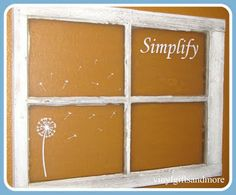 This is what I want to do with that old window that I've hauled around for three moves across several states.